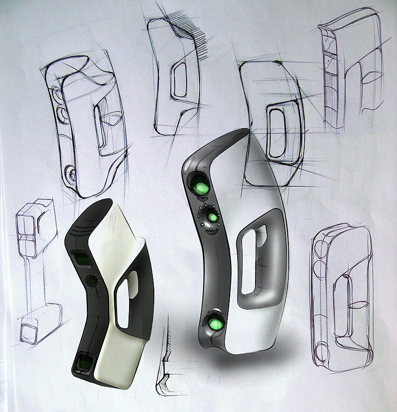 Product Design Line Art : D scanner eva mojorno
